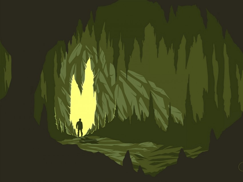 Cave Silhouette Art Vector Dark Background Toppng