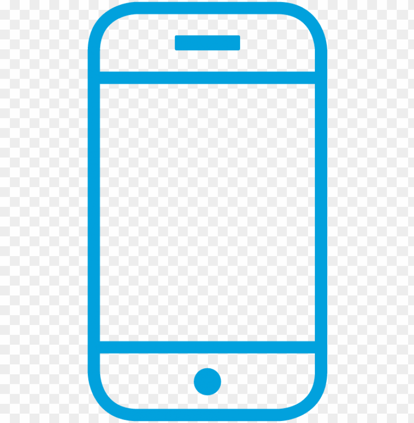 Cell Phone Icon Blue Png Image With Transparent Background Toppng