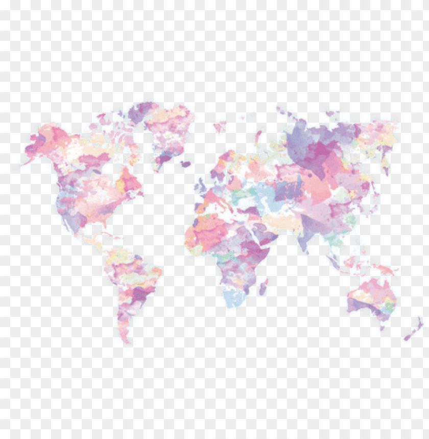 c'est la vie - world map pastel colours PNG image with transparent background@toppng.com