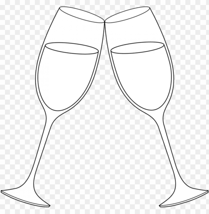 free PNG champagne glass wine toast clipart kid - champagne glasses line art PNG image with transparent background PNG images transparent