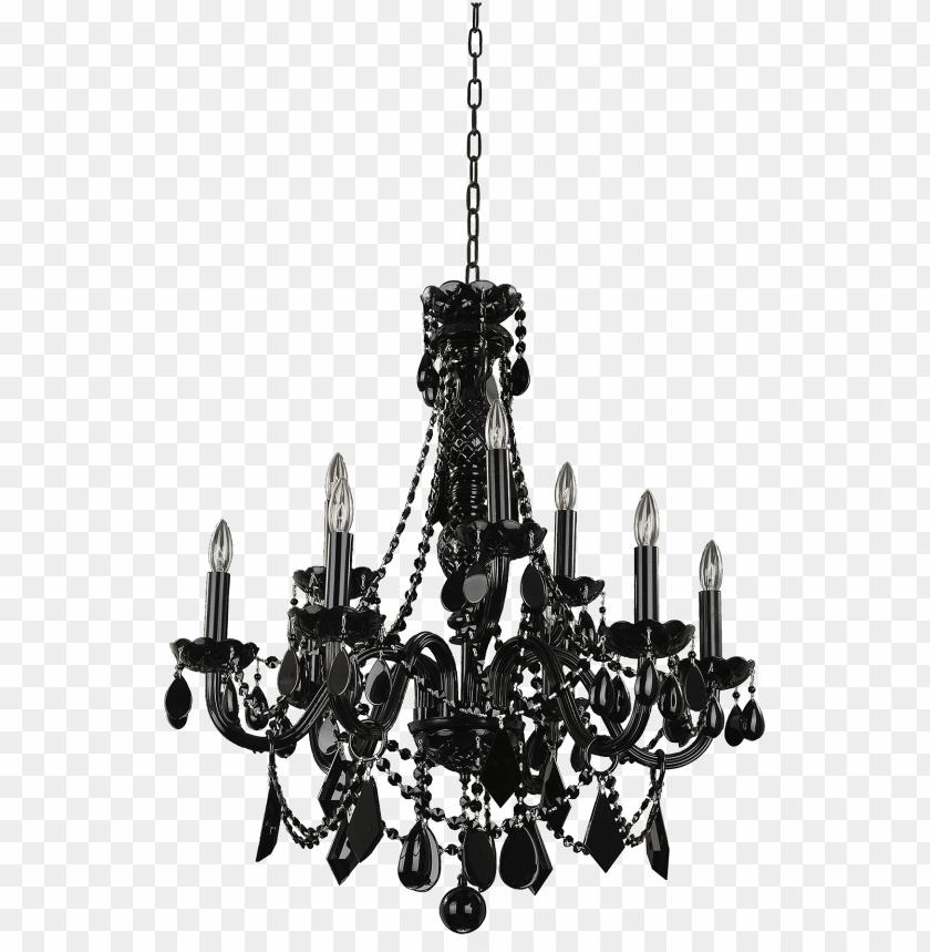 free PNG chandelier png file - black crystal chandelier PNG image with transparent background PNG images transparent