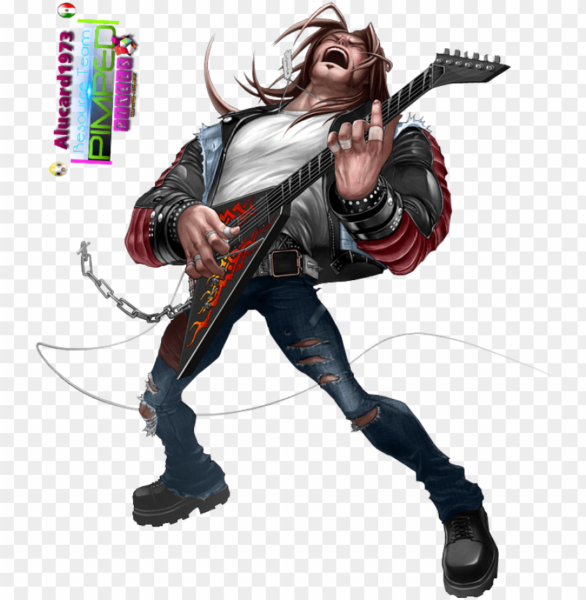 free PNG [character] axel steel guitar hero - guitar hero warriors of rock PNG image with transparent background PNG images transparent