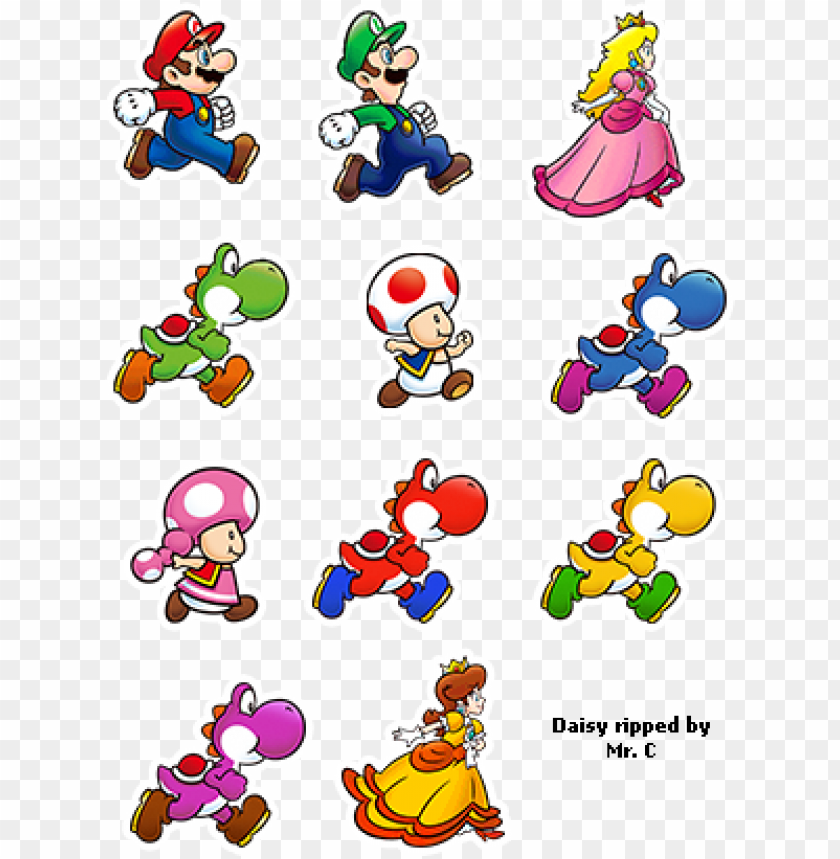 Character Previews Super Mario Run Characters Png Image With