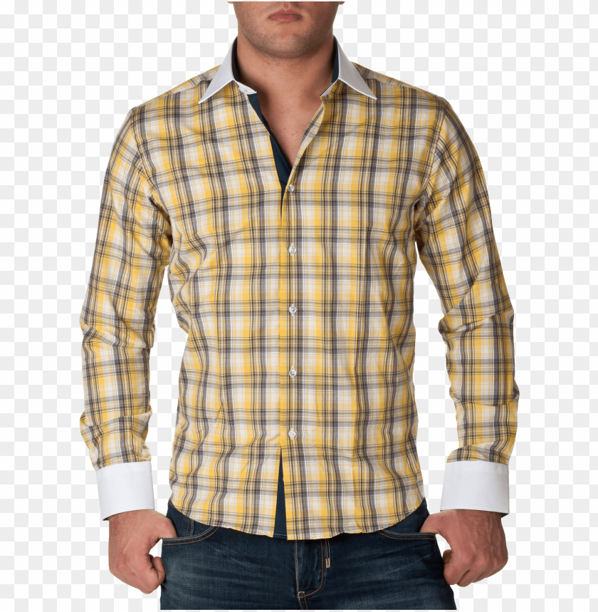 free PNG check full dress shirt yellow png - Free PNG Images PNG images transparent