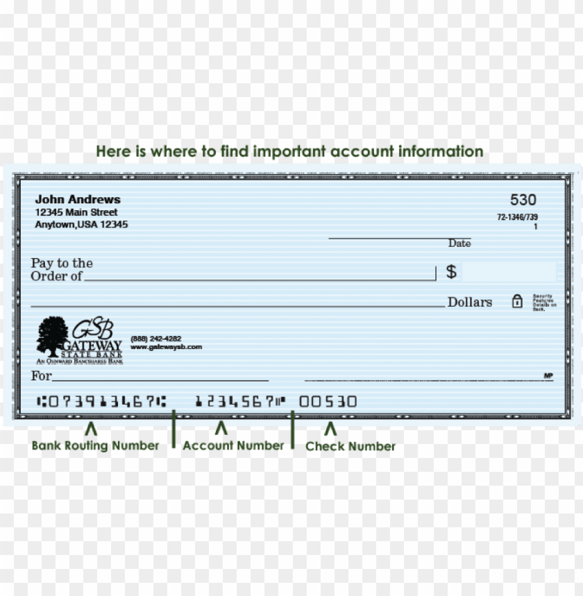 free PNG check image with routing number, account number, and - aba routing transit number PNG image with transparent background PNG images transparent