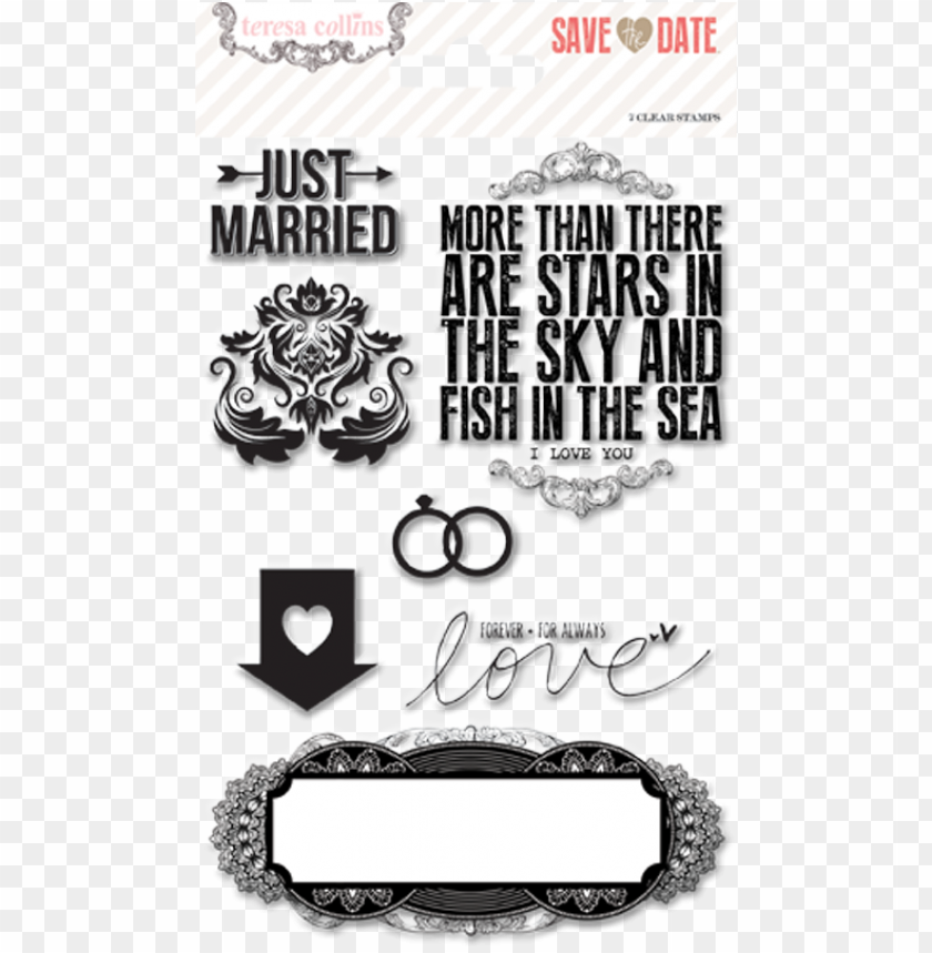 free PNG check them out below and click here to get your stash - teresa collins designs save the date stamps PNG image with transparent background PNG images transparent