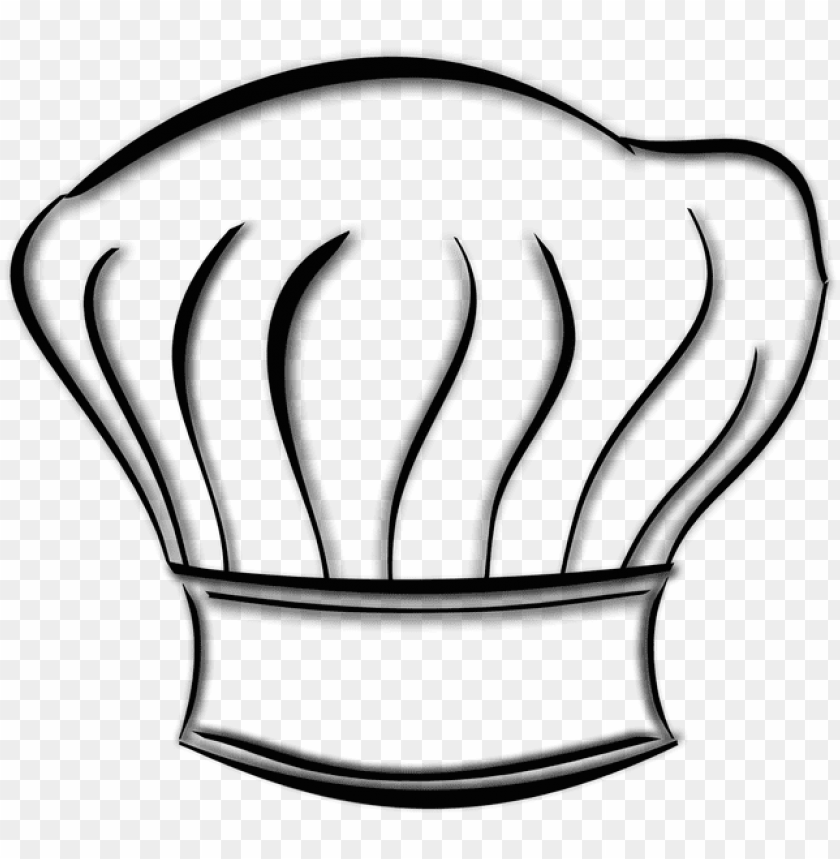 free PNG chef hat drawing at getdrawings - gambar topi chef kartu PNG image with transparent background PNG images transparent