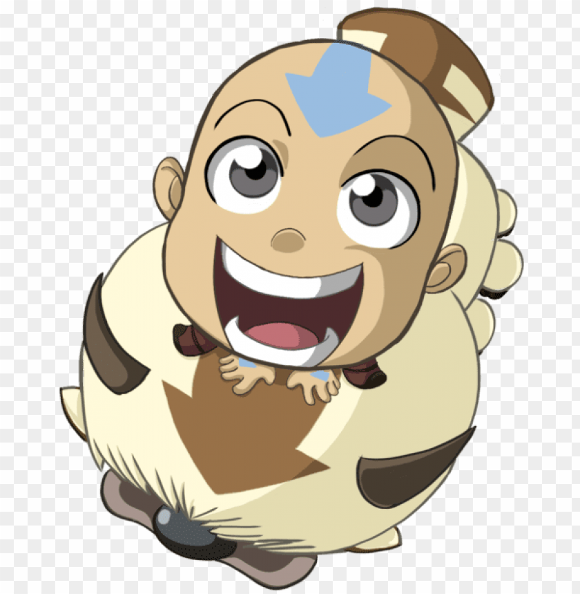 Chibi Aang And Appa Appa Png Image With Transparent Background