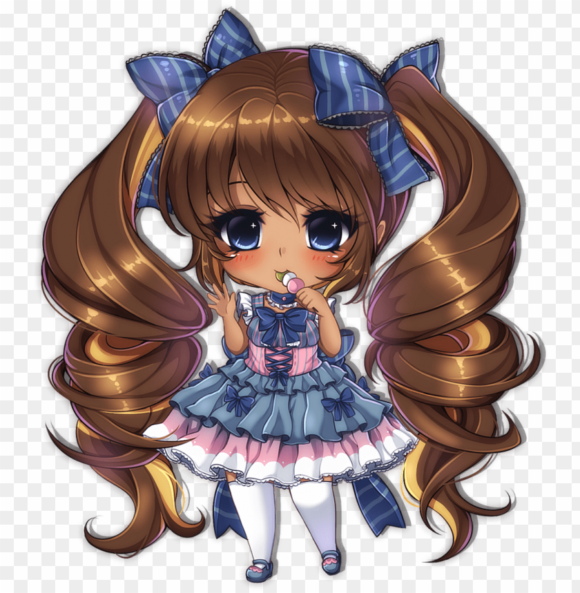Chibi Anime Girl Dark Skin Png Image With Transparent Background Toppng