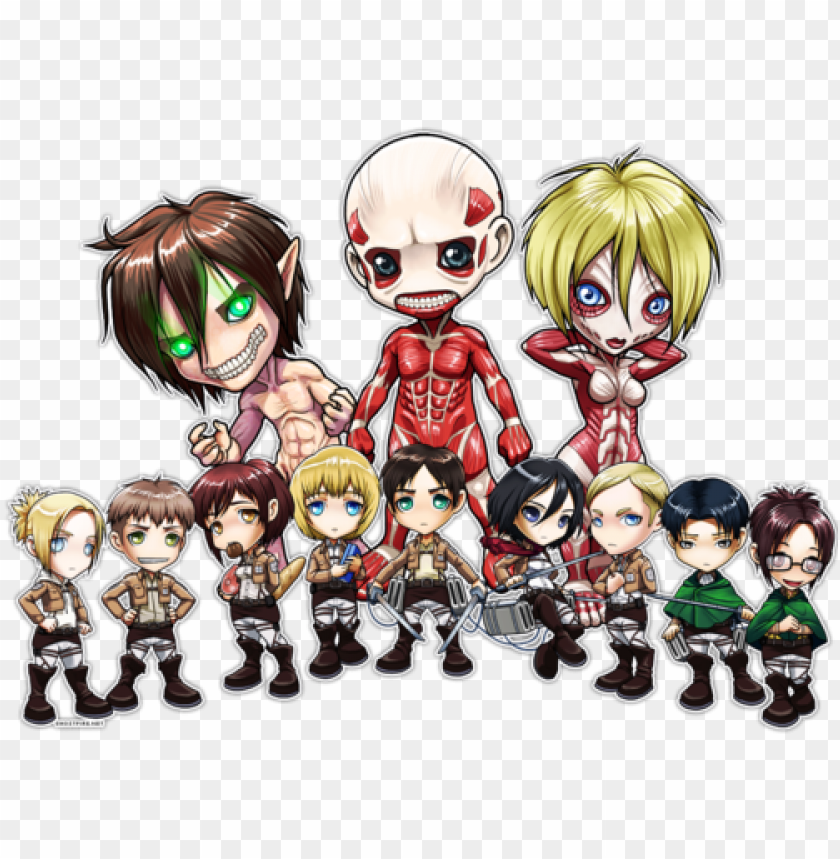 Chibi Shingeki No Kyojin And Attack On Titan Image Shingeki No Kyojin Wallpaper Chibi Png Image With Transparent Background Toppng