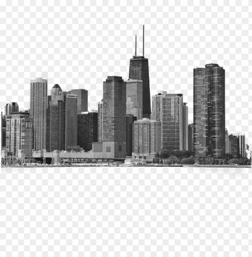 free PNG chicago city skyline iphone 6s clear case iphone 6 - poster: deng's chicago city urban skyline black PNG image with transparent background PNG images transparent
