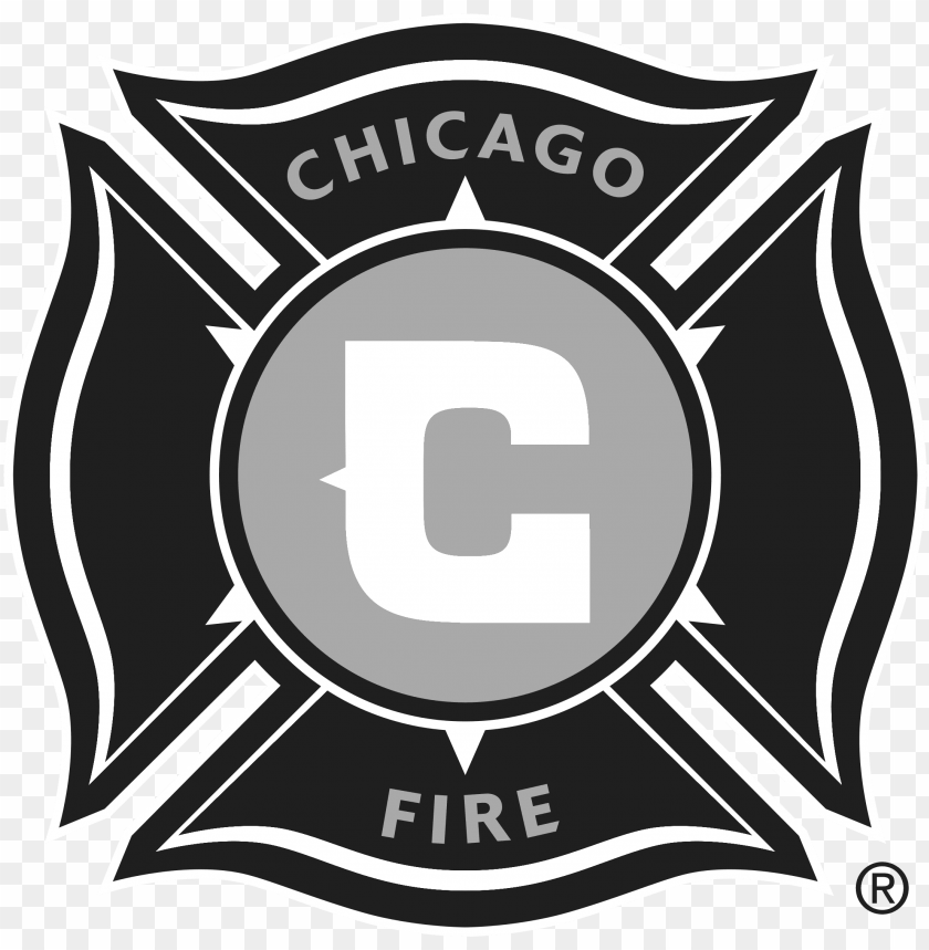 free PNG chicago fire soccer club logo black and white - chicago fire soccer j PNG image with transparent background PNG images transparent