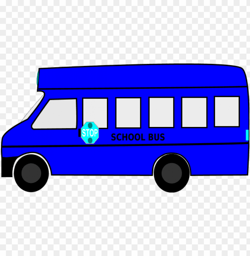 free PNG children on a school bus free clipart vector - blue school bus clipart PNG image with transparent background PNG images transparent