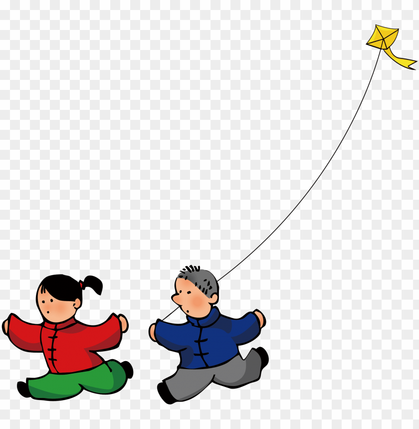free PNG children who fly kites - children who fly kites PNG image with transparent background PNG images transparent