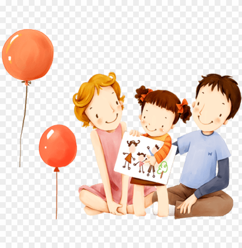 free PNG children's illustration of mother day and family love - family drawing PNG image with transparent background PNG images transparent