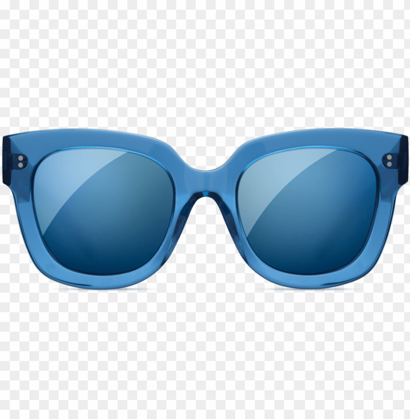 free PNG chimi oversize square sunglasses in transparent blue - reflectio PNG image with transparent background PNG images transparent