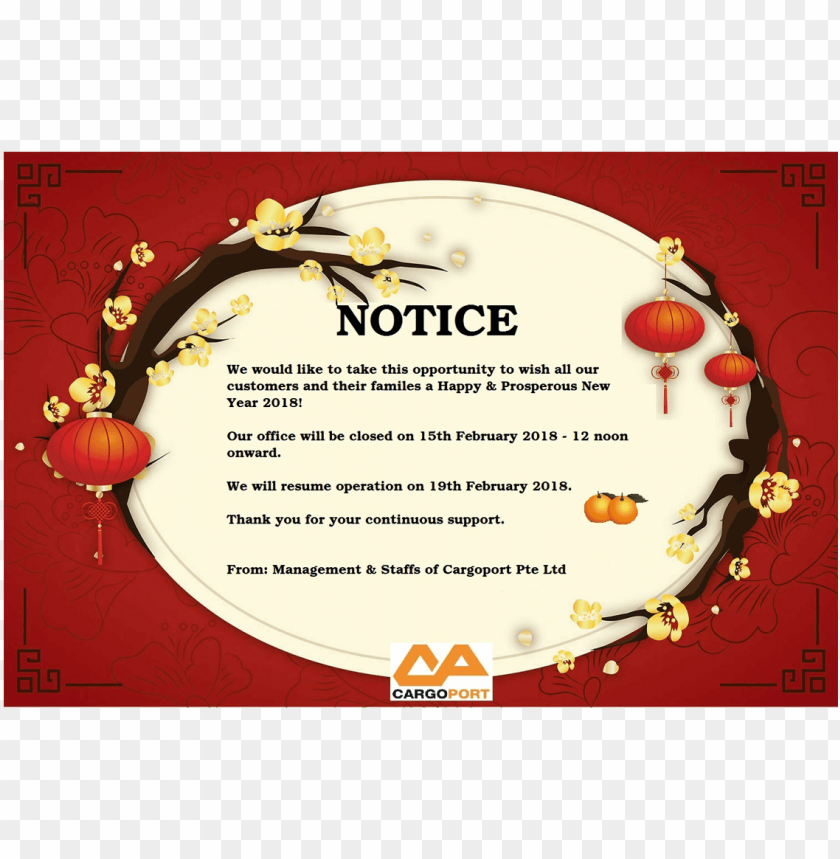 free PNG chinese new year, happy chinese new year, holiday, - christmas and new year closing notice PNG image with transparent background PNG images transparent