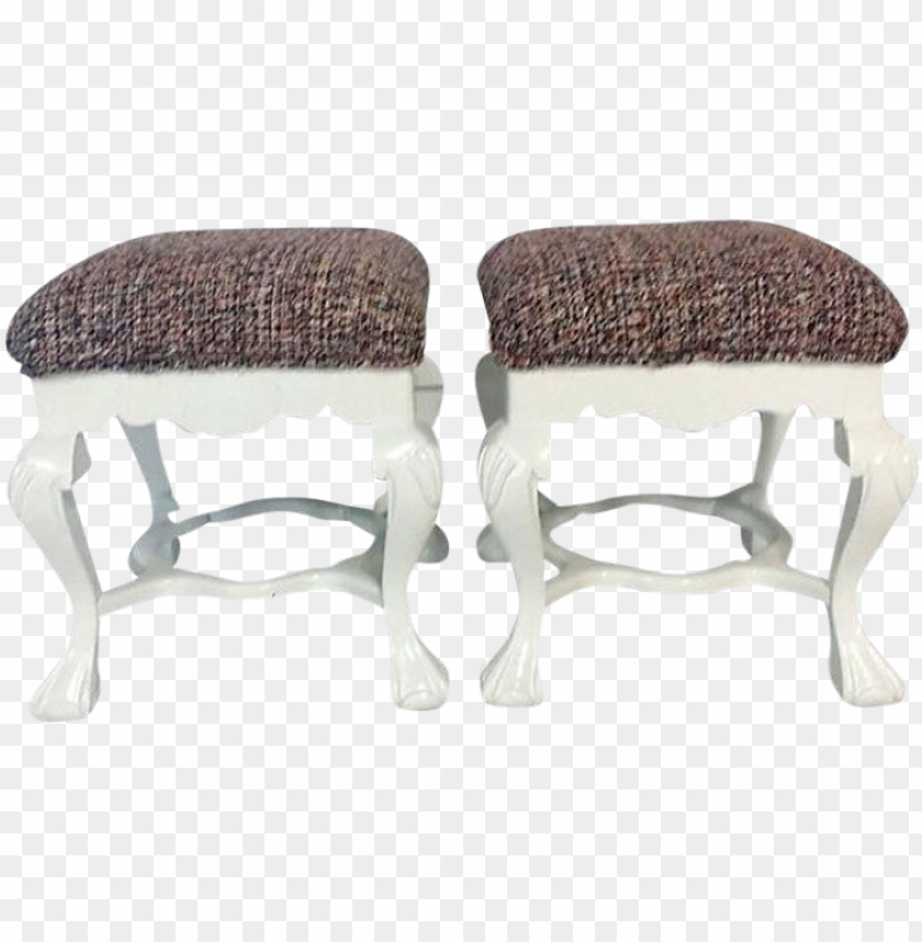 free PNG chippendale lacquered mahogany chanel upholstered benches - footstool PNG image with transparent background PNG images transparent
