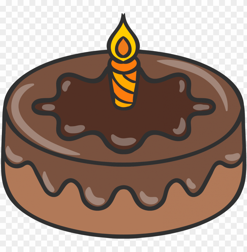free PNG chocolate cake birthday cake drawing - desenho de um bolo de chocolate PNG image with transparent background PNG images transparent