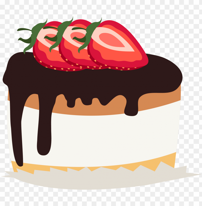 free PNG chocolate cake cream shortcake clip art - strawberry cake cake png clipart PNG image with transparent background PNG images transparent