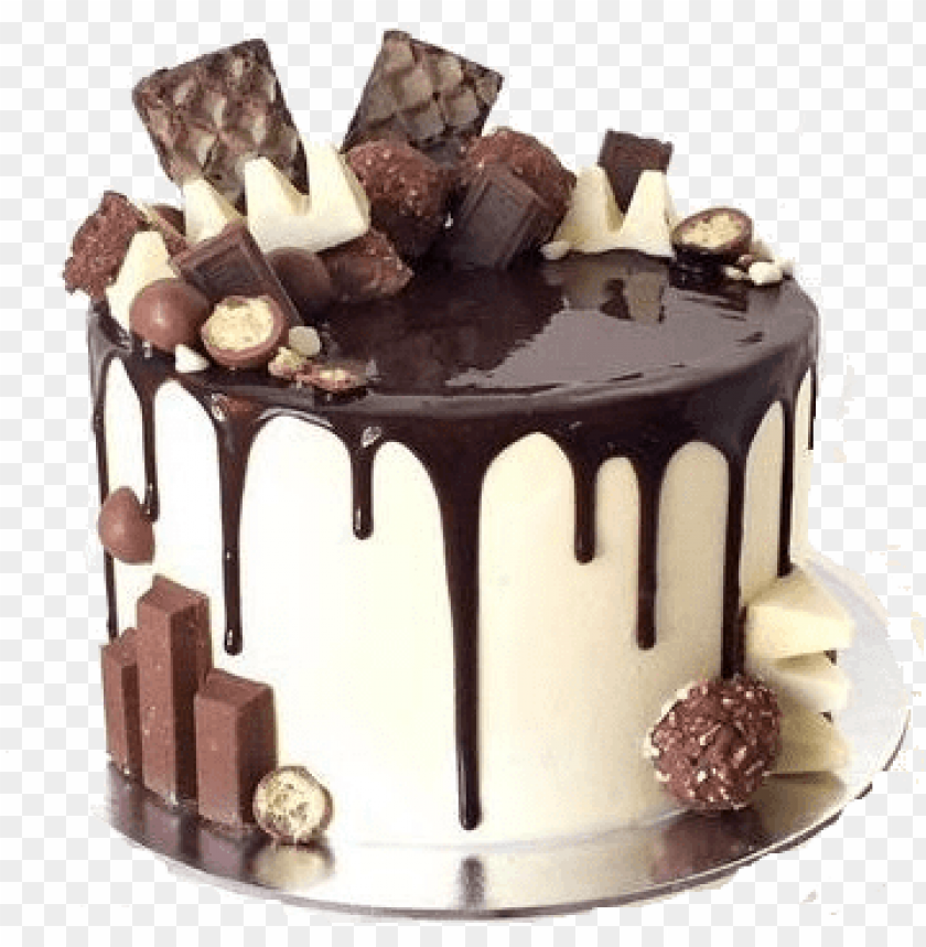 chocolate drip cake, chocolate explosion cake, white - chocolate drip cake PNG image with transparent background@toppng.com