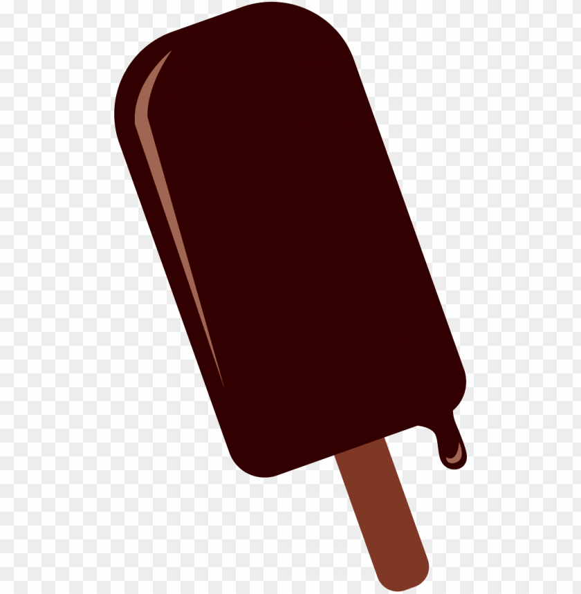 free PNG chocolate ice cream dessert - paleta de chocolate dibujo PNG image with transparent background PNG images transparent