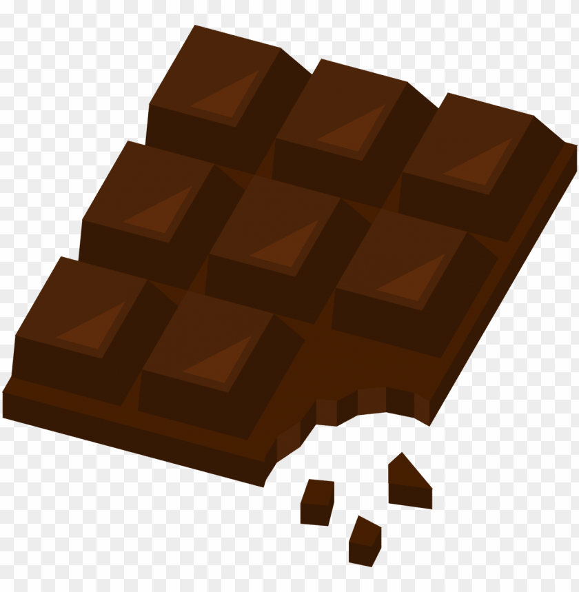 chocolate, sweet, dessert, cocoa, candy - dark chocolate vector PNG image with transparent background@toppng.com