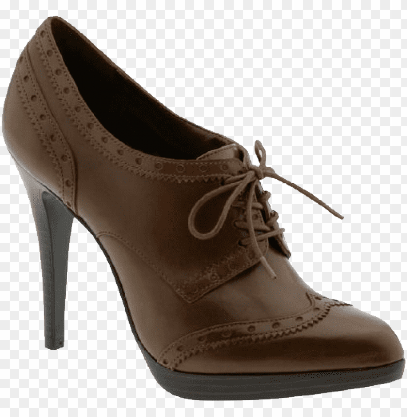 free PNG chocolate women shoe png - Free PNG Images PNG images transparent