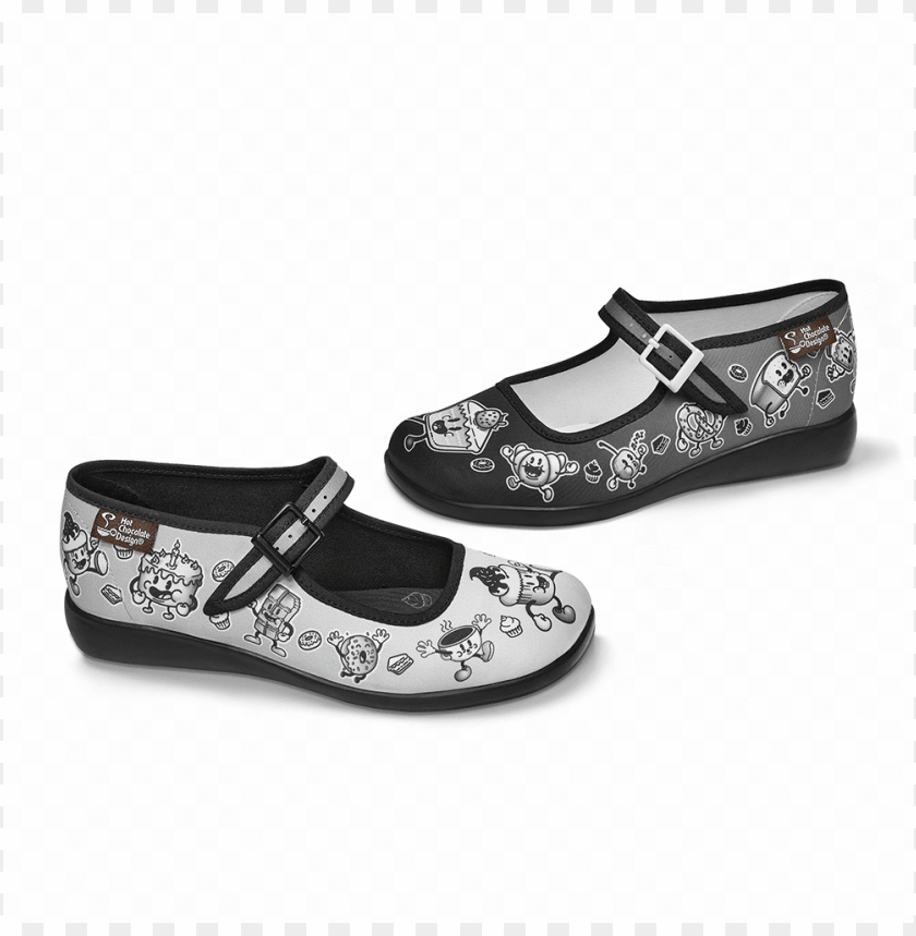 free PNG chocolaticas® cartoon women's mary jane flat - ballet flat PNG image with transparent background PNG images transparent