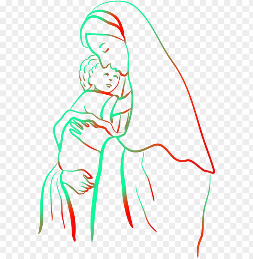 Christ Child Coloring Book Theotokos Madonna Mary Holding Jesus Drawi Png Image With Transparent Background Toppng