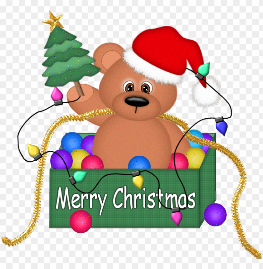 free PNG christmas bear with lights png - Free PNG Images PNG images transparent