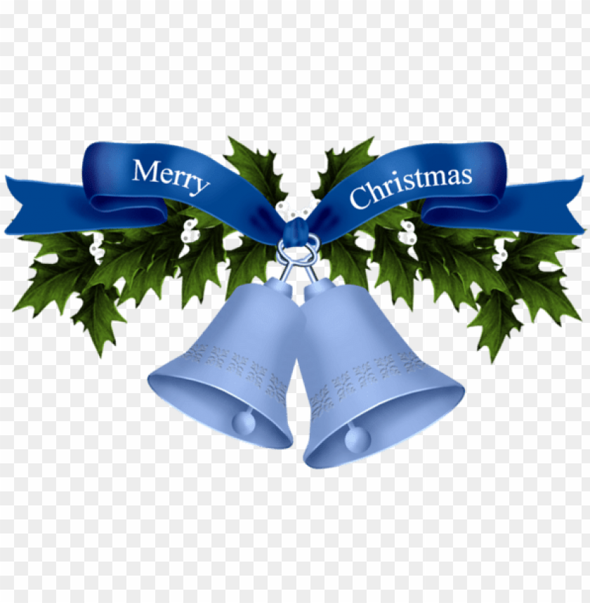free PNG christmas bells - christmas bell blue PNG image with transparent background PNG images transparent