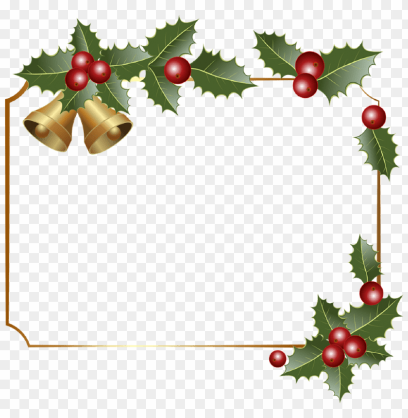 free PNG christmas border decor with bells PNG Images PNG images transparent