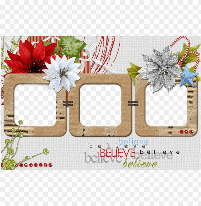 free PNG christmas collage frame - กรอบ รูป ใส่ รูป ได้ PNG image with transparent background PNG images transparent