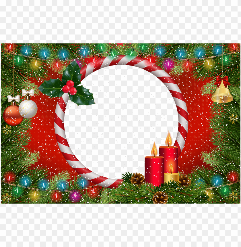 Christmas Frame Red Transparent Background Best Stock Photos Toppng