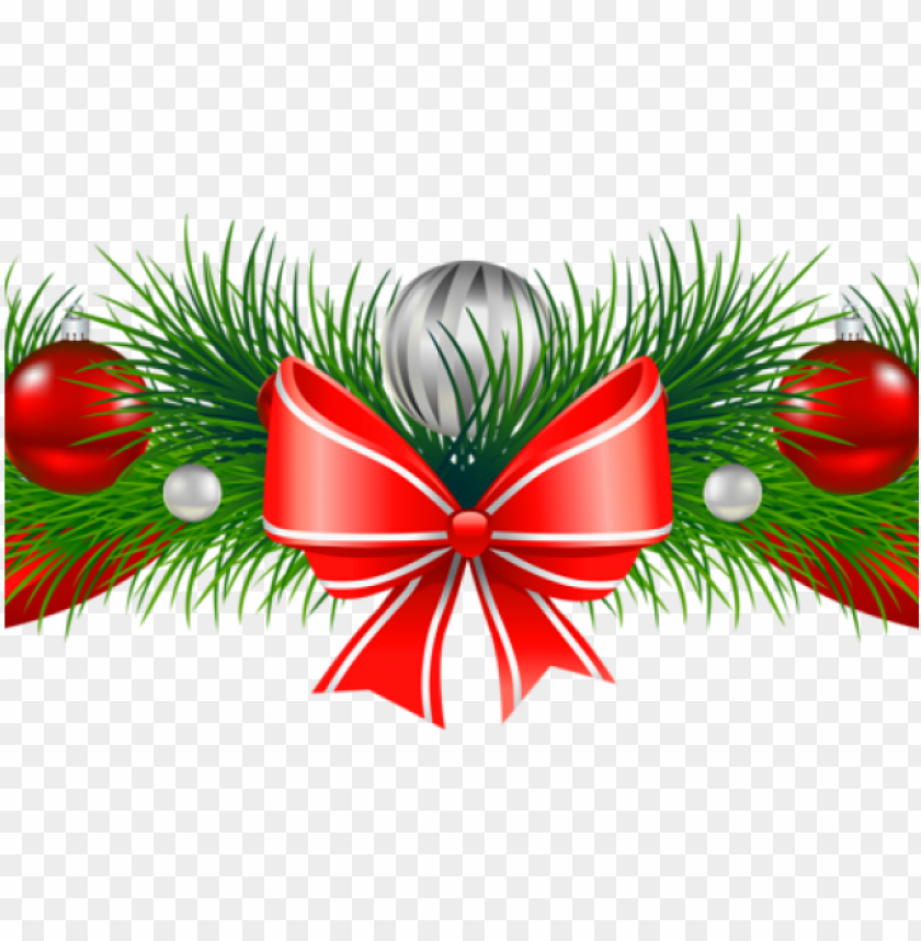 free PNG christmas garland clipart - christmas ornament garland clipart free PNG image with transparent background PNG images transparent