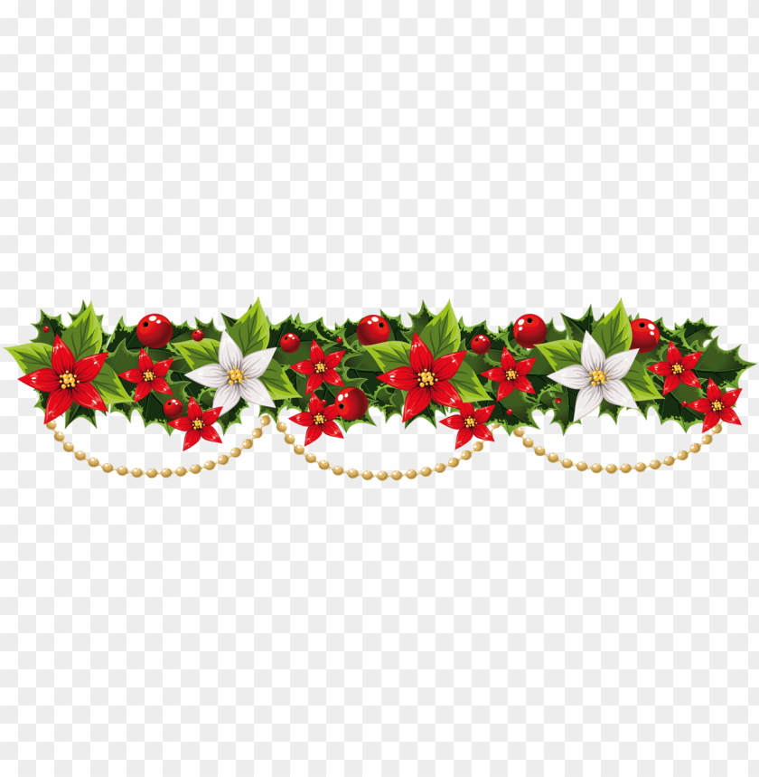 Holiday Garland Clipart 19 Holiday Garland Graphic - Christmas Garland  Transparent Background - Png Download (#139372) - PinClipart