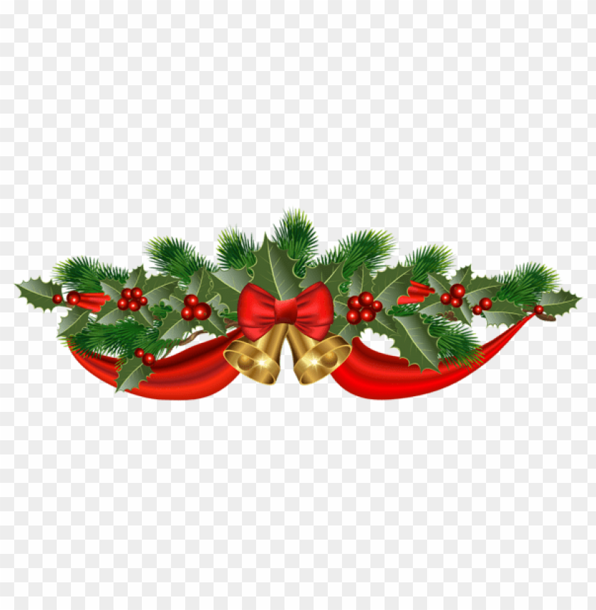 free PNG christmas golden bells and ribbon PNG Images PNG images transparent