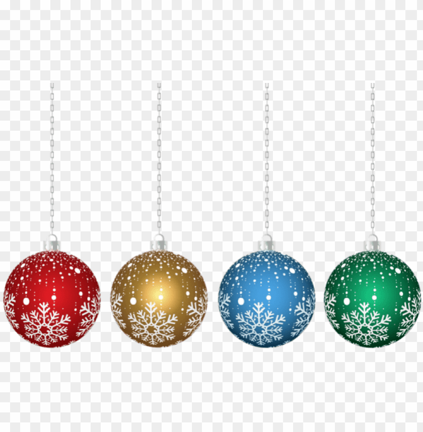 Christmas Hanging Ornaments Transparent Png Christmas