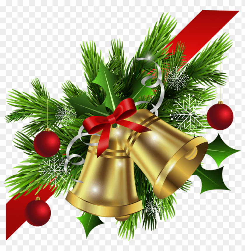 free PNG christmas red bow and bells corner transparent PNG Images PNG images transparent