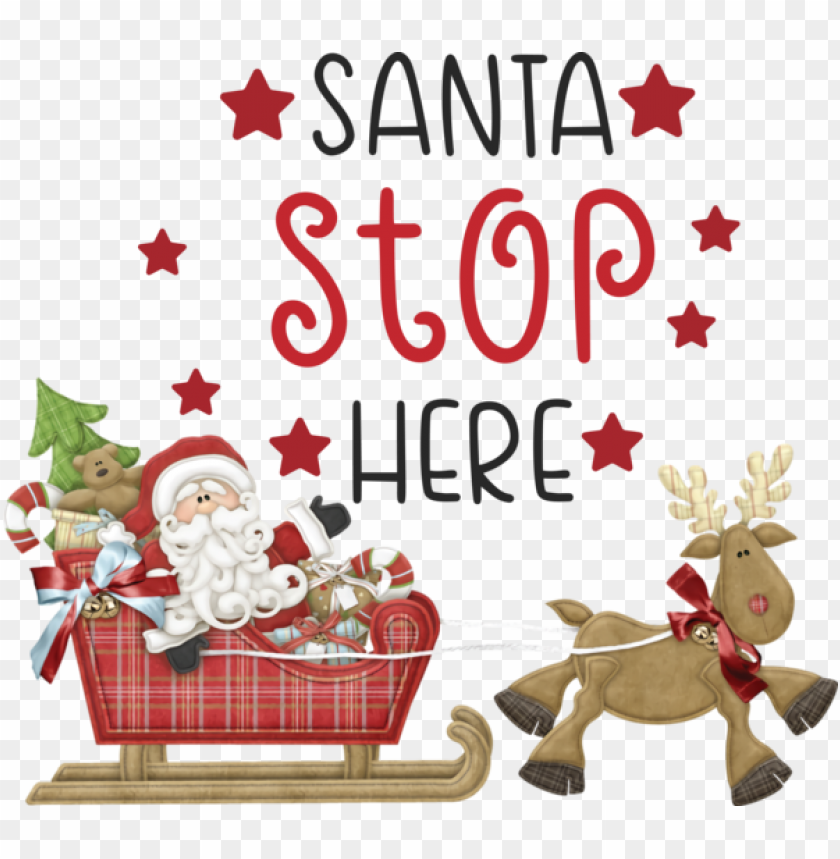free PNG Christmas Reindeer Christmas Day Santa Claus for Santa for Christmas PNG image with transparent background PNG images transparent