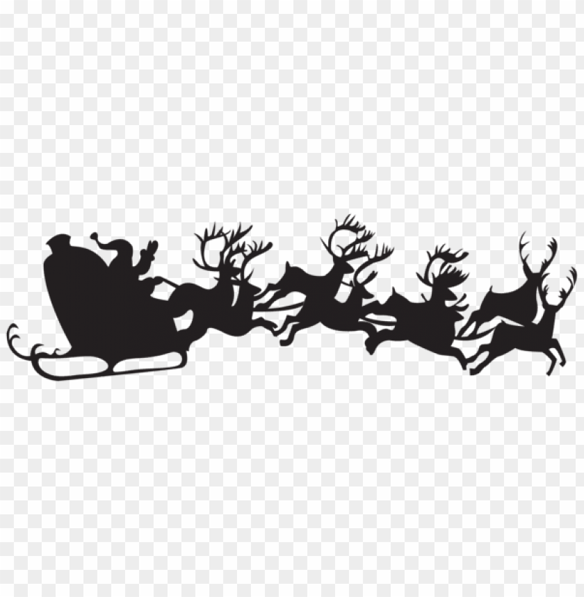 free PNG christmas silhouette santa claus with sleigh png PNG Images PNG images transparent