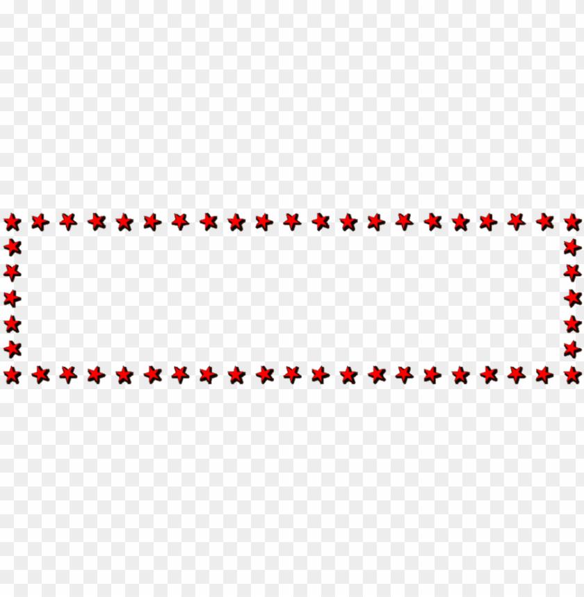 free PNG christmas star border clipart decorative borders borders - red star border PNG image with transparent background PNG images transparent