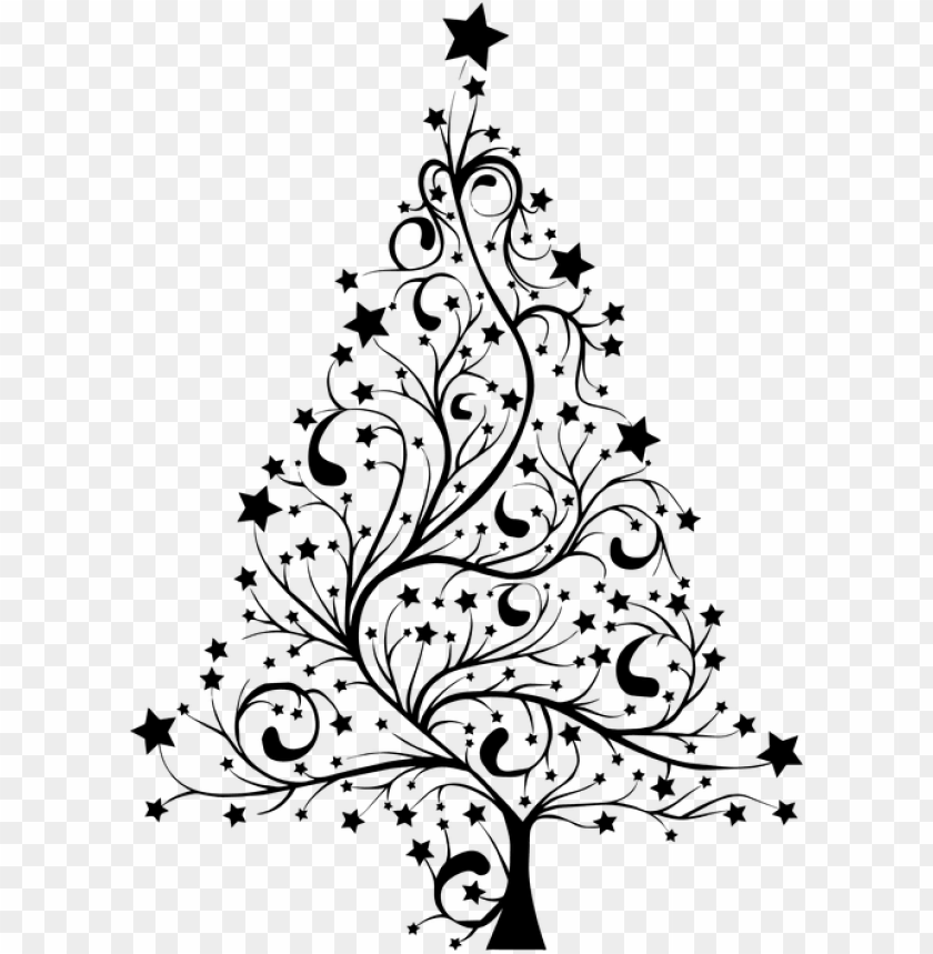free PNG christmas tree clipart black and white - christmas tree silhouette PNG image with transparent background PNG images transparent