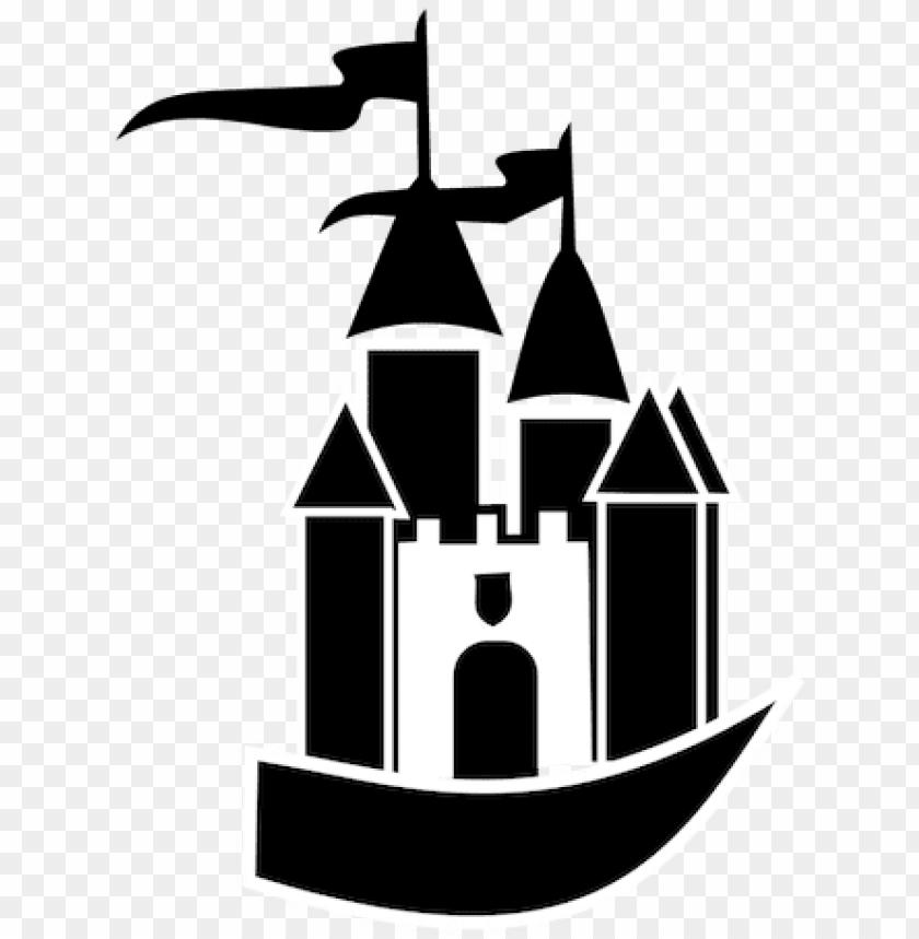 free PNG cinderella castle silhouette vector - castle clipart PNG image with transparent background PNG images transparent