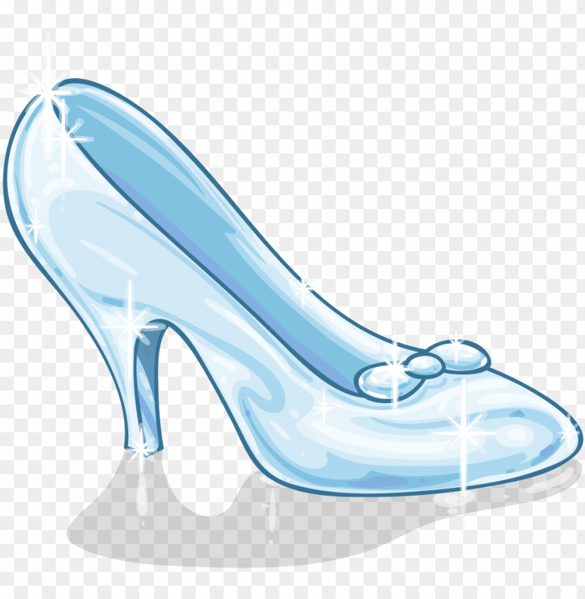 cinderella glass slipper clipart
