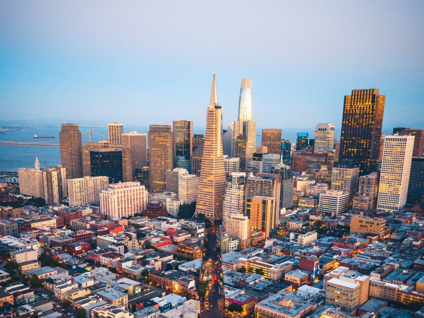 free PNG city, aerial view, metropolis, overview, san francisco, usa background PNG images transparent