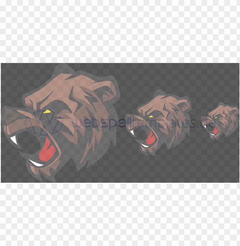 free PNG clan logo vector sizes l030 mascot grizzly bear - bear PNG image with transparent background PNG images transparent