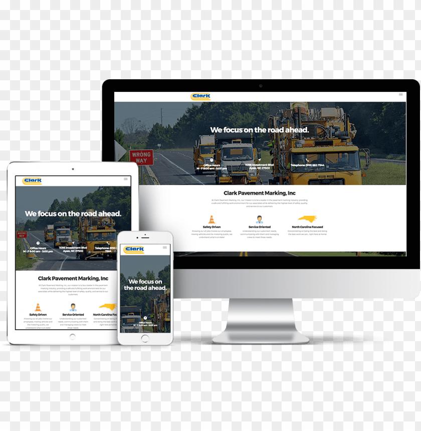 free PNG clark pavement marking website mockup - web desi PNG image with transparent background PNG images transparent