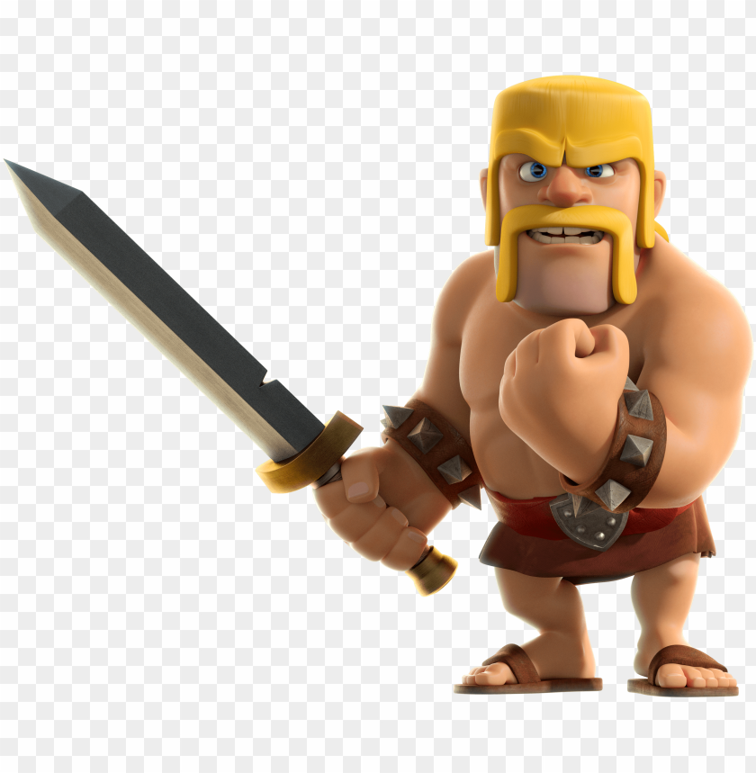 Clash Of Clans Barbarian Clash Of Clans Barbar Png Image With Transparent Background Toppng